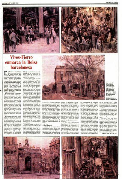 Vives Fierro en La Vanguardia 4-9-88
