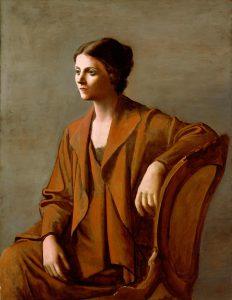 Olga Khokhlova en el Museo PIcasso