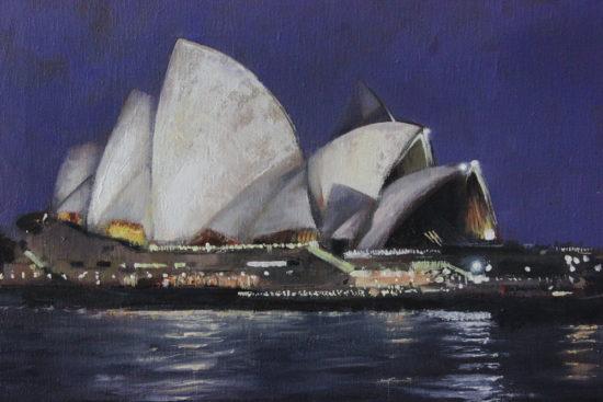 La ópera de Sidney pintada