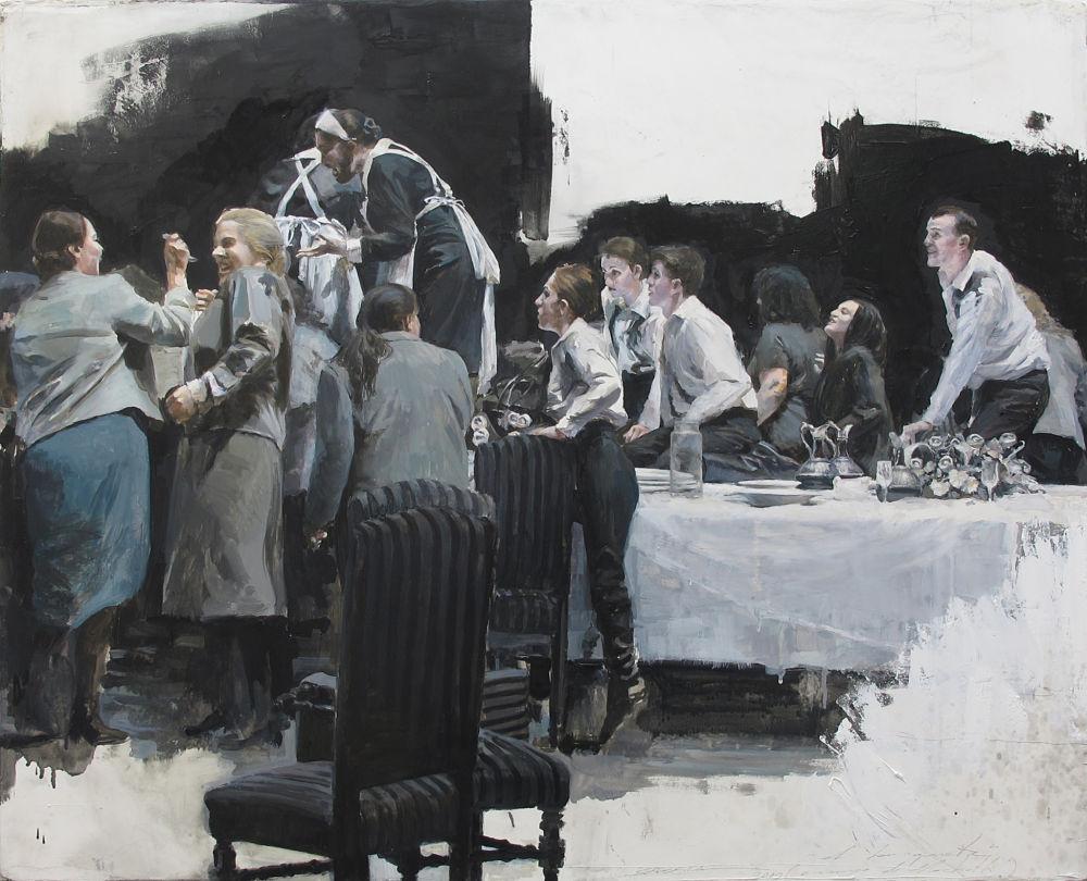 Obra de Sacris para la exposición de realismos del castillo de Calonge